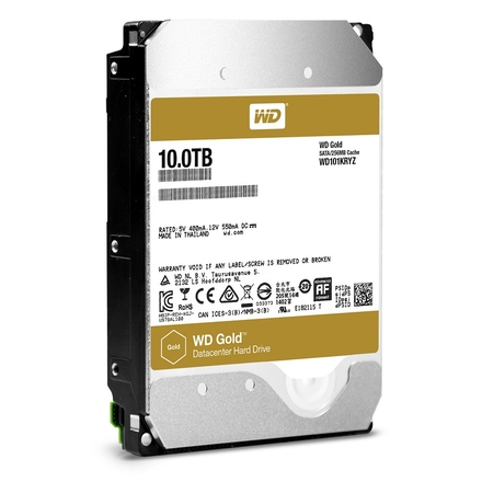 "Жесткий диск Western Digital Gold HDD SATA 7.2k 3.5"" 10 Тб WD101KRYZ"